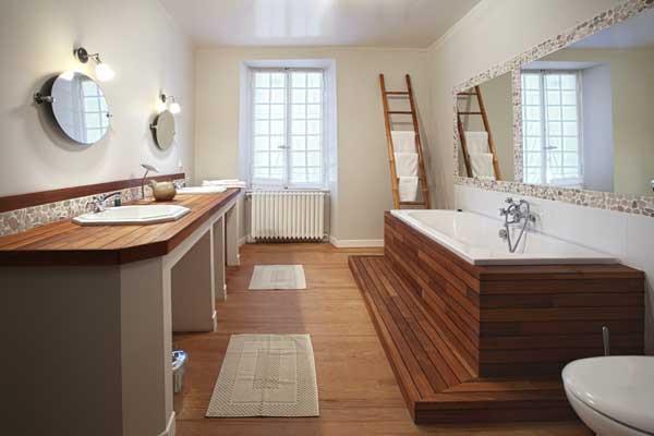 Badkamerrenovatie handgemaakte houten badmeubels kapellen antwerpen - Gemeubleerde salle de bains ontwerp ...