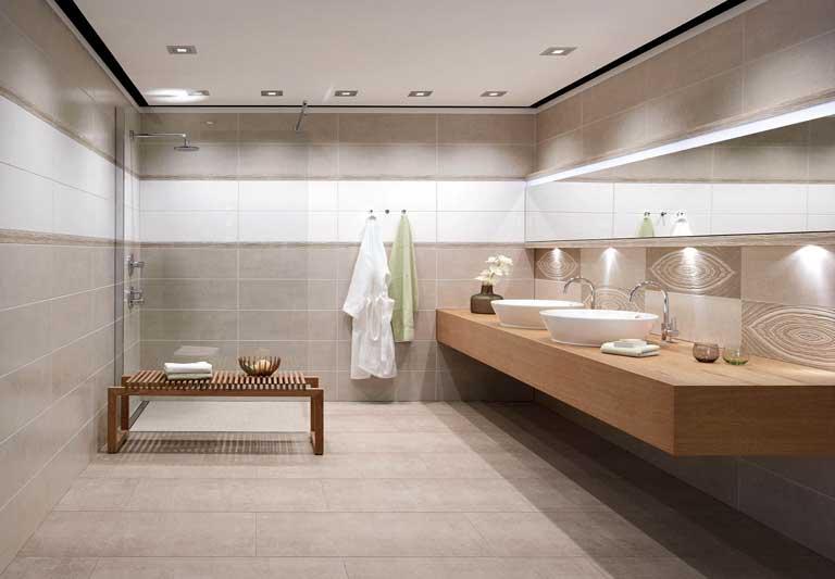 Badkamerrenovatie betegeling badkamertegels kapellen antwerpen - Moderne betegelde vloer ...